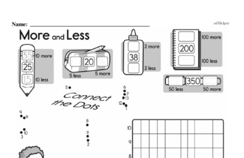 Data - Graphing Mixed Math PDF Workbook for First Graders