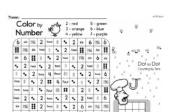 Free First Grade Data PDF Worksheets Worksheet #12