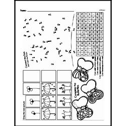 Free First Grade Data PDF Worksheets Worksheet #1
