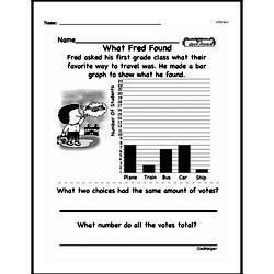 Free First Grade Data PDF Worksheets Worksheet #33