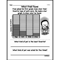 Free First Grade Data PDF Worksheets Worksheet #27