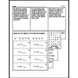 Free First Grade Data PDF Worksheets Worksheet #30