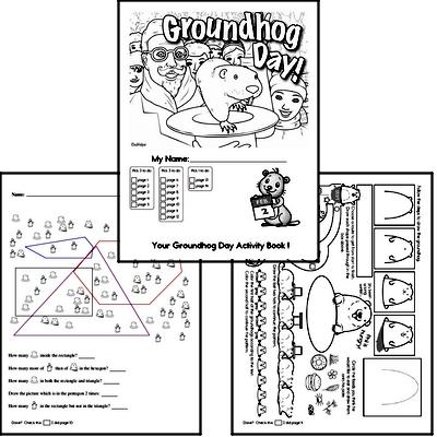 First Grade Groundhog Day Worksheets Activity Book