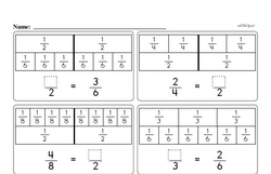 First Grade Fractions Worksheets - Fractions and Parts of a Set Worksheet #1