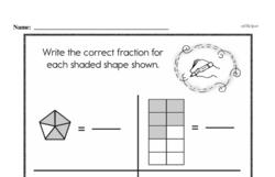 Free Fraction PDF Math Worksheets Worksheet #40