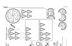 Free Fraction PDF Math Worksheets Worksheet #129