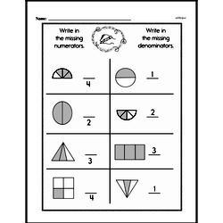 Free First Grade Fractions PDF Worksheets Worksheet #12