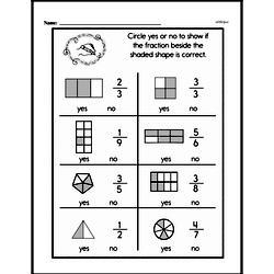 Free First Grade Fractions PDF Worksheets Worksheet #14