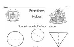 Fraction Worksheets - Free Printable Math PDFs Worksheet #61