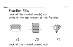Free Fraction PDF Math Worksheets Worksheet #184
