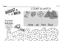 Free Fraction PDF Math Worksheets Worksheet #58