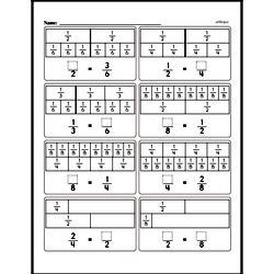 Free Fraction PDF Math Worksheets Worksheet #237