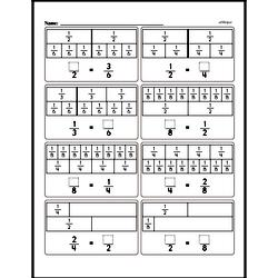 Fraction Worksheets - Free Printable Math PDFs Worksheet #150