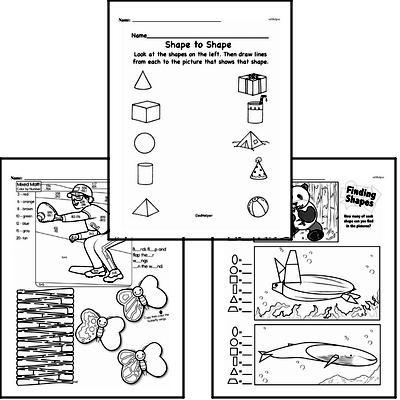 free first grade geometry pdf worksheets. Black Bedroom Furniture Sets. Home Design Ideas