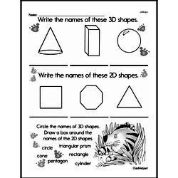 First Grade Geometry Worksheets 3d Shapes Edhelper Com