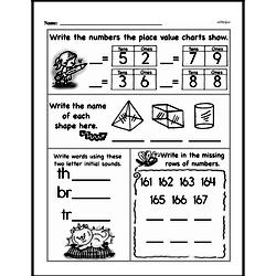 Free 1.G.A.2 Common Core PDF Math Worksheets Worksheet #8