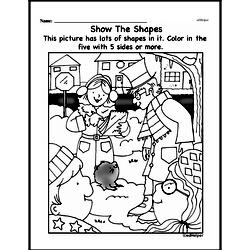 First Grade Geometry Worksheets Worksheet #25