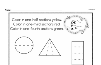 Geometry Mixed Math PDF Workbook for First Graders