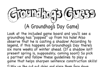 Activity for Groundhog Day - Guessing Game!