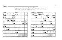 Addition Sum Problems Puzzle