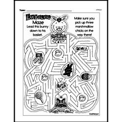 First Grade Math Challenges Worksheets - Puzzles and Brain Teasers Worksheet #132