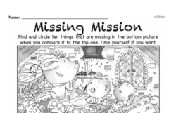 First Grade Math Challenges Worksheets - Puzzles and Brain Teasers Worksheet #113