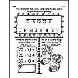 First Grade Math Challenges Worksheets - Puzzles and Brain Teasers Worksheet #116