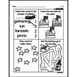 First Grade Math Challenges Worksheets - Puzzles and Brain Teasers Worksheet #148