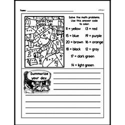 First Grade Math Challenges Worksheets - Puzzles and Brain Teasers Worksheet #60
