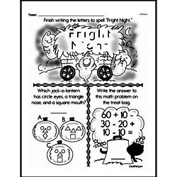 First Grade Math Challenges Worksheets - Puzzles and Brain Teasers Worksheet #123