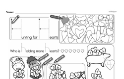 First Grade Math Challenges Worksheets - Puzzles and Brain Teasers Worksheet #33