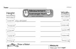 Free First Grade Measurement PDF Worksheets Worksheet #22