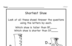 Free First Grade Measurement PDF Worksheets Worksheet #10