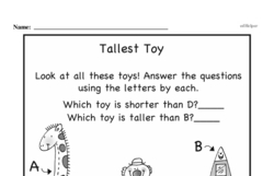 Free First Grade Measurement PDF Worksheets Worksheet #17
