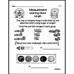 Free First Grade Measurement PDF Worksheets Worksheet #24