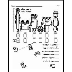 Free First Grade Measurement PDF Worksheets Worksheet #10