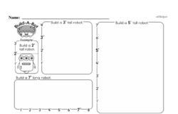 Free First Grade Measurement PDF Worksheets Worksheet #18