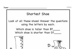 Free First Grade Measurement PDF Worksheets Worksheet #9