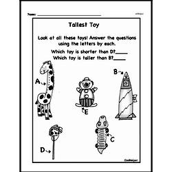 Free First Grade Measurement PDF Worksheets Worksheet #25