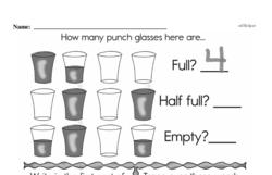 Free First Grade Measurement PDF Worksheets Worksheet #36