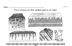 Free First Grade Measurement PDF Worksheets Worksheet #34