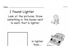 Free First Grade Measurement PDF Worksheets Worksheet #1