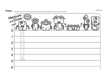 Measurement - Measurement and Weight Mixed Math PDF Workbook for First Graders