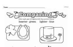 Free First Grade Measurement PDF Worksheets Worksheet #29