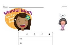 Easier Mental Math Challenge Worksheet