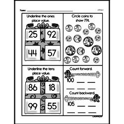 First Grade Money Math Worksheets - Adding Groups of Coins Worksheet #3