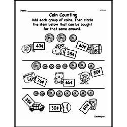 First Grade Money Math Worksheets - Adding Groups of Coins Worksheet #16