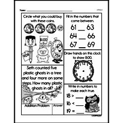 First Grade Money Math Worksheets - Adding Groups of Coins Worksheet #25