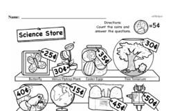 First Grade Money Math Worksheets - Adding Groups of Coins Worksheet #4