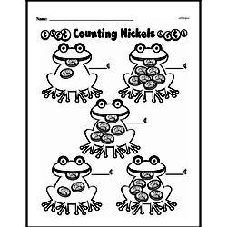 First Grade Money Math Worksheets - Adding Groups of Coins Worksheet #19